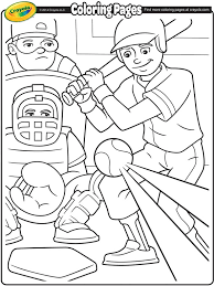 Small Picture Baseball Coloring Page crayolacom