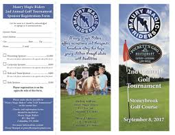Golf Event Brochures - Maury Magic Riders - Therapeutic Riding Center