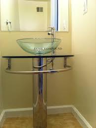 bathroom vanities vessel sinks sets. 30 Pedestal Stainless Vanity Glass Sink Set Hc01 Inside Vessel Combo Plan Architecture: Bathroom Vanities Sinks Sets T