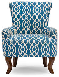 Blue Patterned Chair Delectable Great Patterned Arm Chair With Contemporary Fabric Armchair Navy