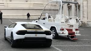 Lamborghini And Popemobile