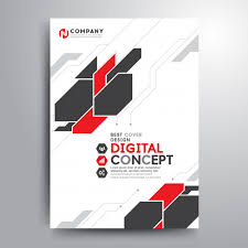 Electronic Brochure Template Business Cover Brochure Template Digital Electronic Shapes