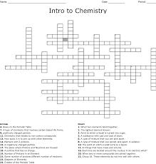 Intro To Chemistry Crossword Wordmint