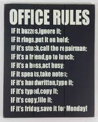 wall art for the office. Wooden Wall Art - Office Rules Sign For The K