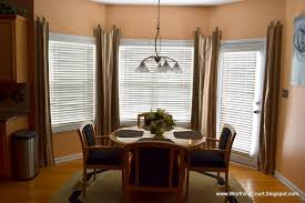 Living Room Bay Window Treatment Dining Room Bay Window Curtains