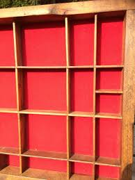 antique wooden wall panel with shelves