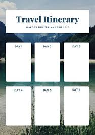 Free Itinerary Maker Customize 28 Itinerary Planner Templates Online Canva