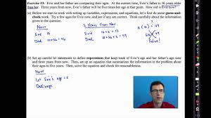 common core algebra i unit 2 lesson 5 linear word problems