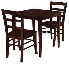 brilliant ideas 3 piece dining table set groveland 3 piece set square dining table with 2
