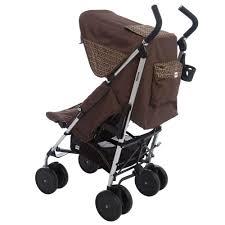 Designer Baby Stroller Fendi Brown Ff Logo Stroller With Raincover