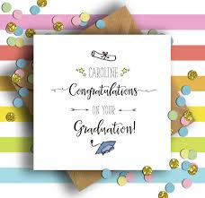 Personalised Congratulations On Your Graduation Card Numonday