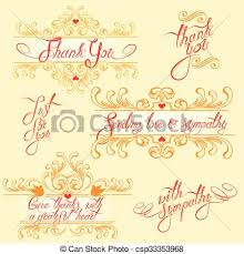Set With Thank You Cards In Yellow