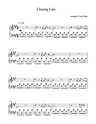 This is a beginning chord to tutorial for the song chasing cars by snow patrol, using the major chords a, e and d. Chasing Cars Snow Patrol Piano Sheet Music Sheet Music Piano Sheet Blues Piano