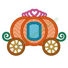Cinderella Applique Design Carriage Applique