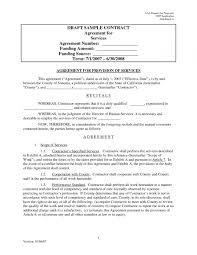 Managed Service Contract Template With Simple Service Agreement ...
