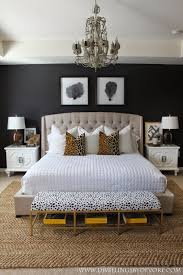 gold black and white bedroom