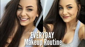 everyday makeup routine with eyelash extensions you