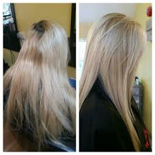 Wella High Lift Blonde Before And After Hair Coloring