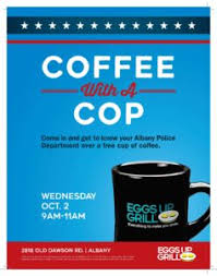Coffee With A Cop Flyer Coffee With A Cop Albany Area Chamber Of Commerce