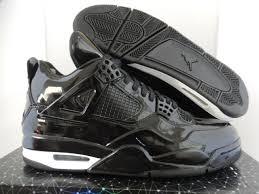 nike air jordan retro 4 11lab4 black patent leather shoes mens sz 10 ds
