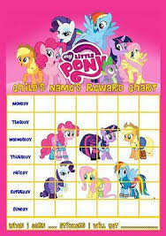 My Little Pony Personalised Reward Chart With Free Stickers