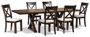 claira piece dining room set  rustic brown  leon's