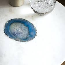 agate side table white marble and blue target