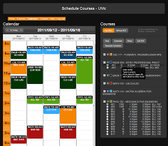 schedule creater schedule courses timetable builder uvic home