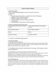 Sample Project Proposal Outline Free Template Research Exa