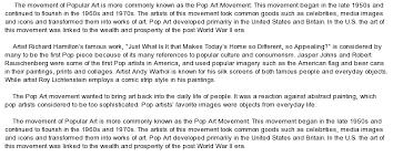 pop art movement at com essay on pop art movement