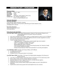 Resume Format Examples Resumes Curriculum Vitae Sample For Students