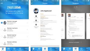 Resume Builder App Gorgeous Resume Tips How To Create A Resume On Your IPhone Resume Creator App
