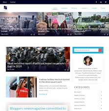 Download Free Blogger News Magazine Blog Layout Website