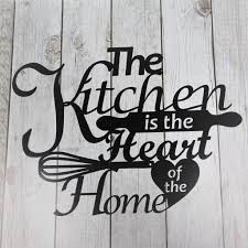 metal wall sign the kitchen is the heart of the home home d cor on home is where the heart is metal wall art with metal wall sign the kitchen is the heart of the home madison iron