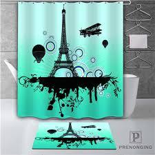custom beautiful city 2 waterproof shower curtain doormat home bath bathroom polyester fabric multi sizes 18 10 226 shower curtains