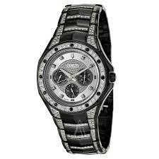 bulova crystal 98c102 men s watch watches bulova men s crystal watch
