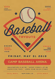 Free Baseball Flyer Template Download The Baseball Tryouts Flyer Template Psd Ffflyer