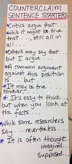 images about my teacher side on pinterest  literature  argument counterclaim sentence frames