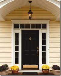 front door with one sidelightCreative Home Expressions Paint the Sidelights or Not