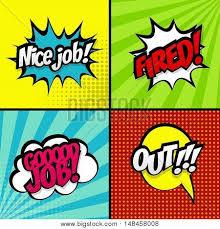 Good Job Template Set Comic Work Sound Vector Photo Free Trial Bigstock