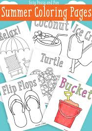 Summer Coloring Pages Easy Peasy And Fun