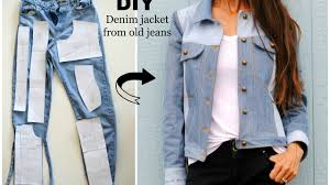 Upcycling Clothes How To Upcycled Denim Jacket From Old Jeans Youtube