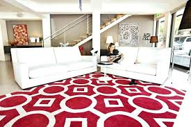 extraordinary living room with red rug and white contemporary rugs striped color also sofa small table design brown stand lamp