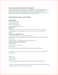12 Construction Resume Objectives Paradochart