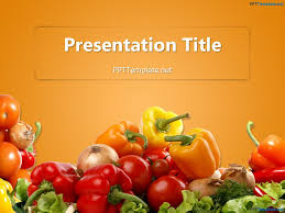 Free Food Powerpoint Templates Free Various Vegetables Ppt Template