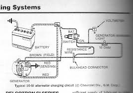 alternator wiring diagrams alternator image wiring one wire alternator wiring diagram wirdig on alternator wiring diagrams