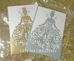 Quincenera Invitations Fancy Dress Girl Laser Cut Quinceañera Invitations