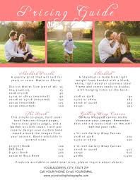 Photography Pricing Template Photographer Pricing Guide Photoshop Template Lc02 Posy Prints Design