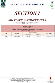N V S C Military Products Nvsc Military Coatings This