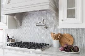 ann sacks glass tile backsplash. Contemporary Sacks White And Gray Herringbone Backsplash Tiles By Ann Sacks For Glass Tile